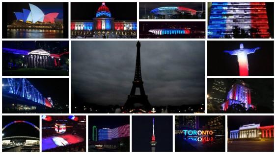 buildings lit up for paris2