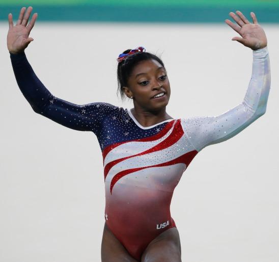 Rio de Janeiro - Simone Biles, ginasta dos Estados Unidos, durante final em que levou medalha de ouro na disputa por equipes feminina nos Jogos Olímpicos Rio 2016. (Fernando Frazão/Agência Brasil)
